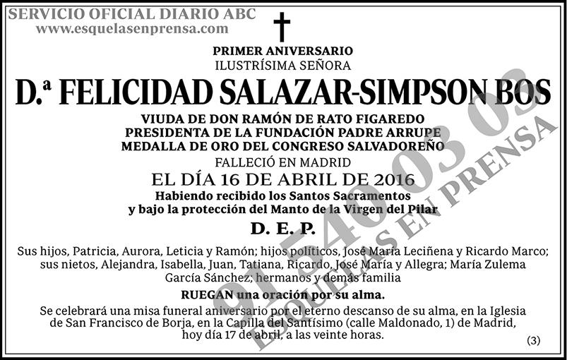 Felicidad Salazar-Simpson Bos